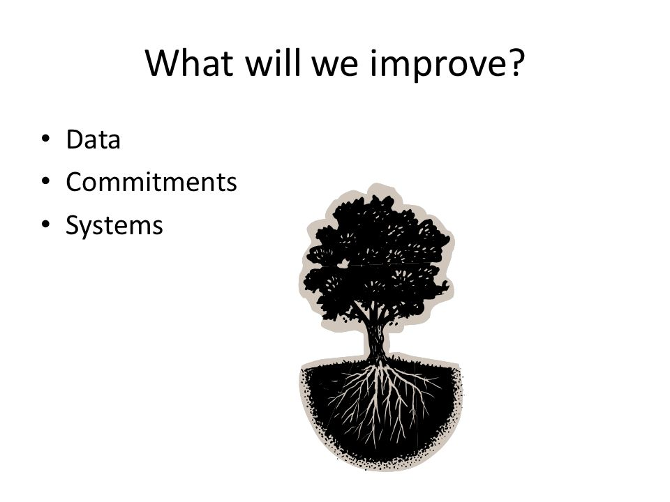 What will we improve Data Commitments Systems
