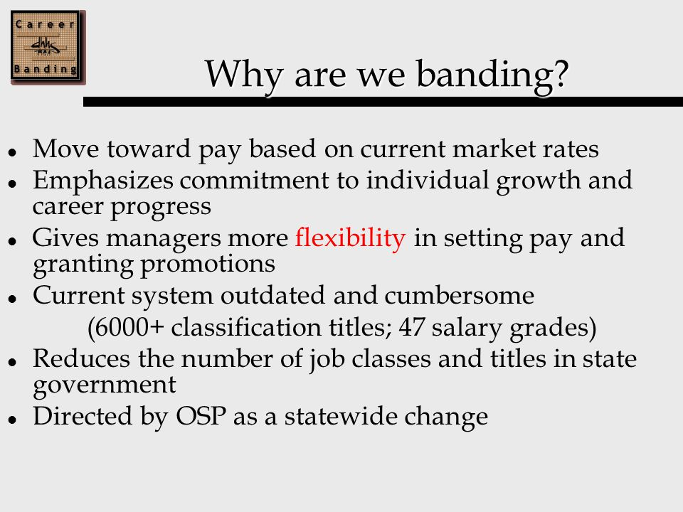 Fiscal Band-Business Mgt cont'd Each agency must identify any Administrative Officers with a primary business-related role Includes: Administrative Officer I, II, III 135 employees