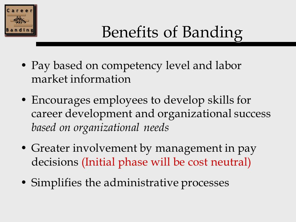 Management's Role (cont'd) Provide detailed documentation for band/level placement and salary adjustments, Establish career development plans and coaching that should enhance an employee's contribution to the organization's success.