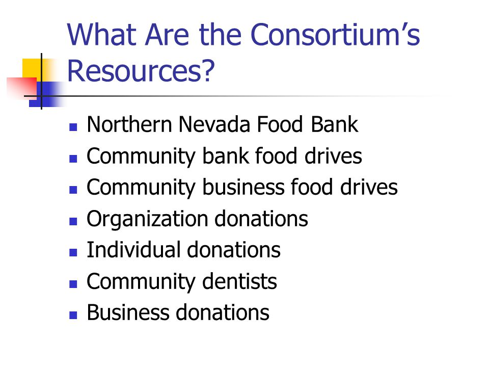 What Are the Consortium's Resources.