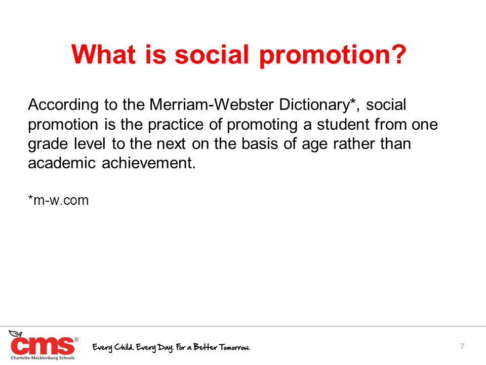 7 What is social promotion.
