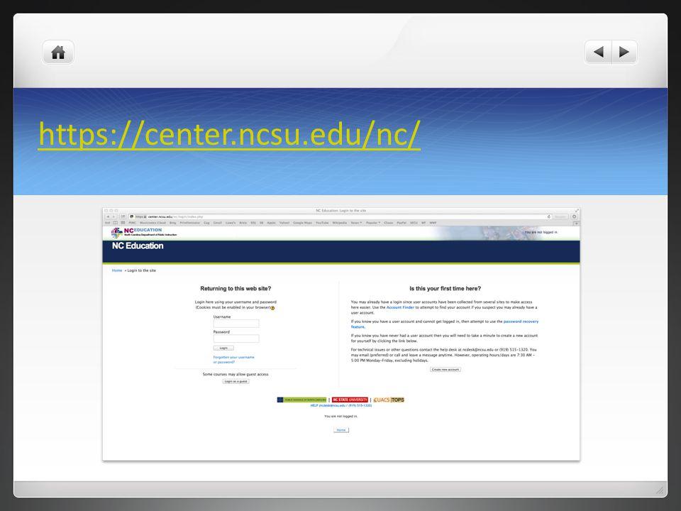 NC Education: My Home
