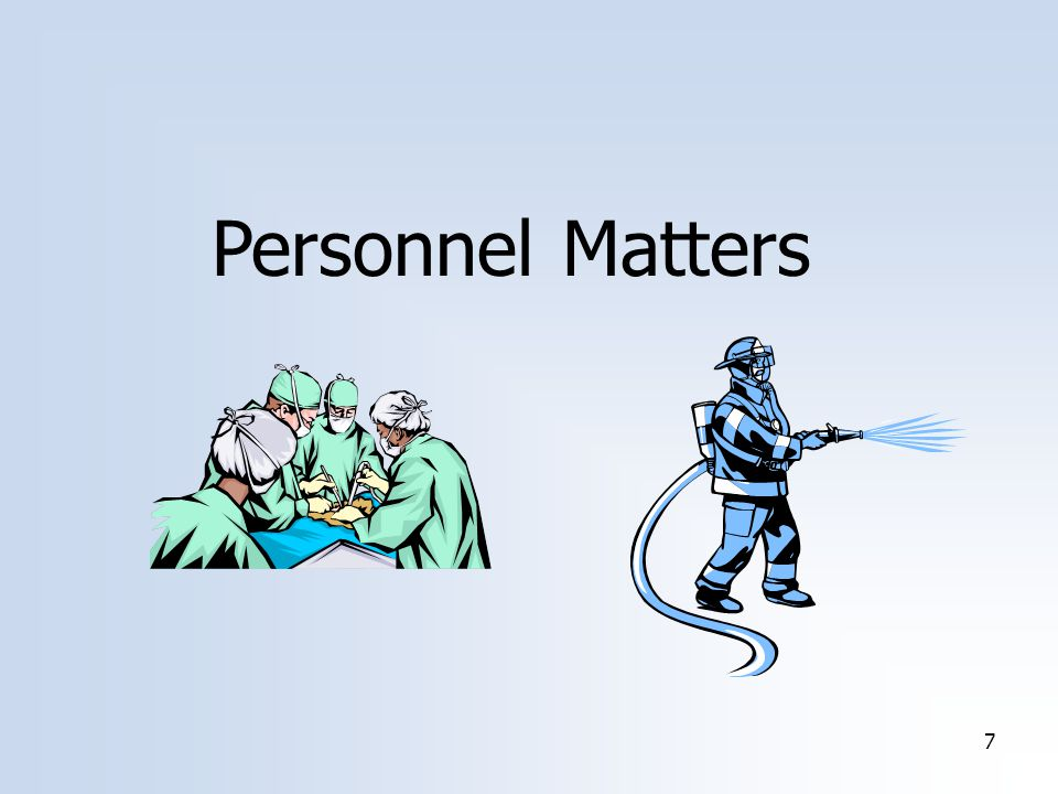 8 Personnel Matters AB 98 – WC Coverage for Volunteer Health Practitioners Sec.