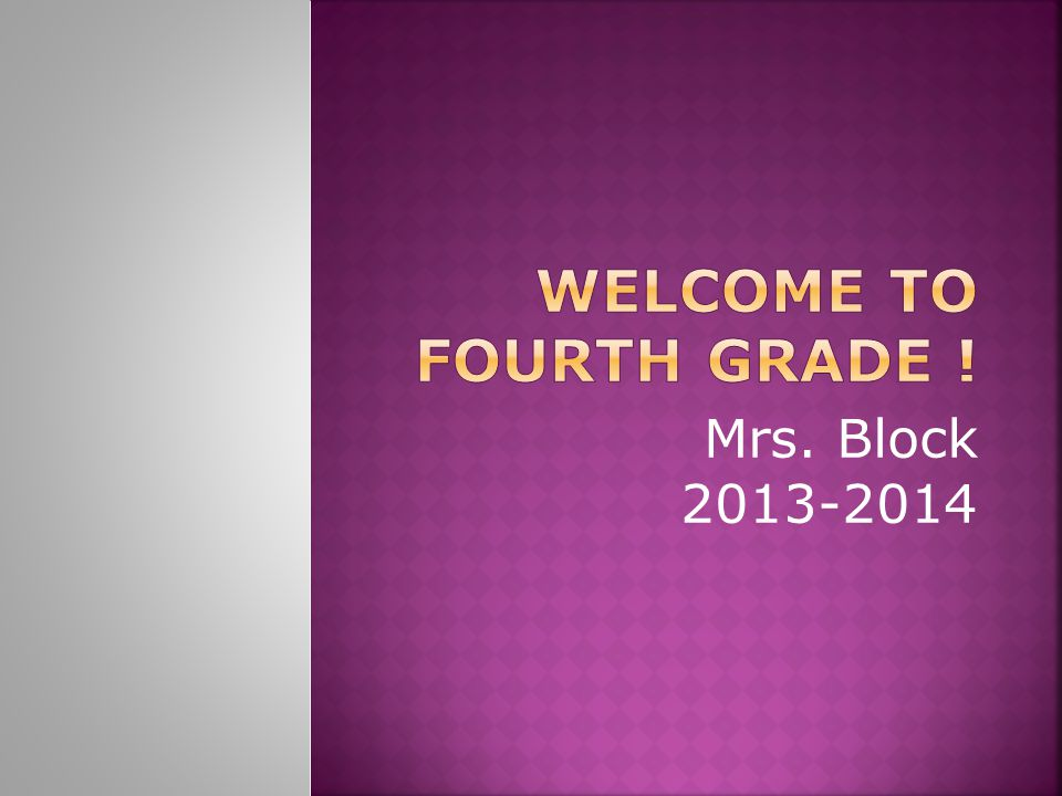 Mrs. Block 2013-2014