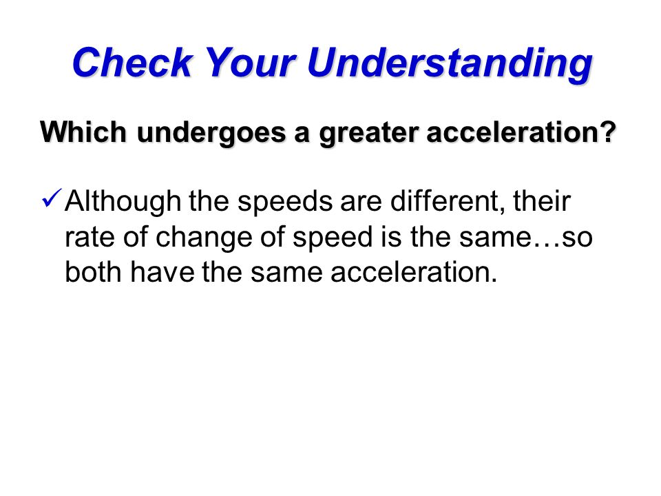 Check Your Understanding Which person(s) could be slowing down.