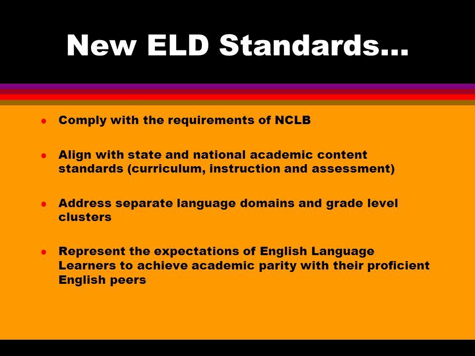 New ELD Standards...