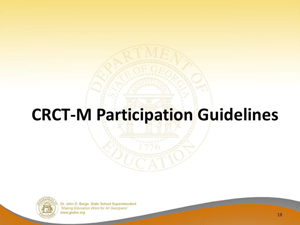 CRCT-M Participation Guidelines 18