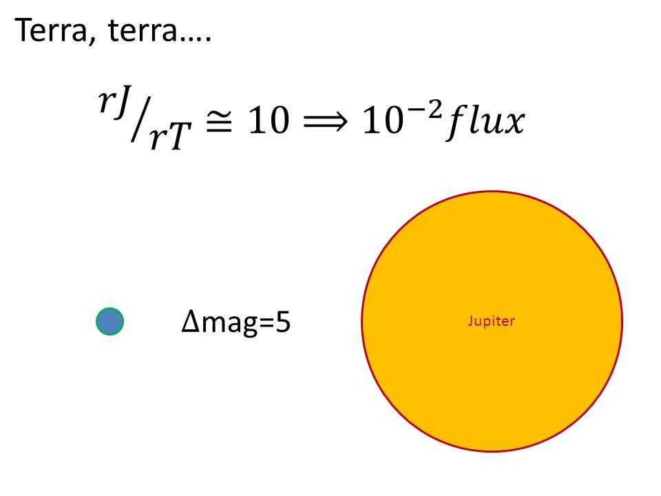 Terra, terra…. Jupiter