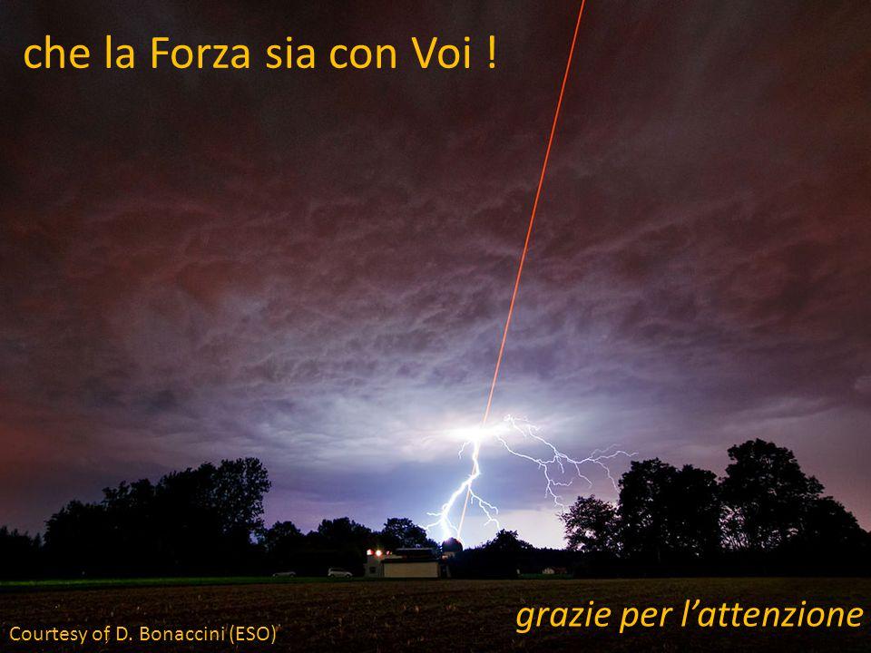 che la Forza sia con Voi ! grazie per l'attenzione Courtesy of D. Bonaccini (ESO)