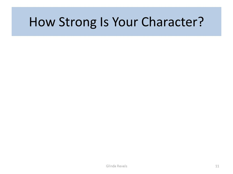How Strong Is Your Character Glinda Revels11