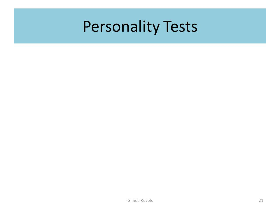 Personality Tests Glinda Revels21