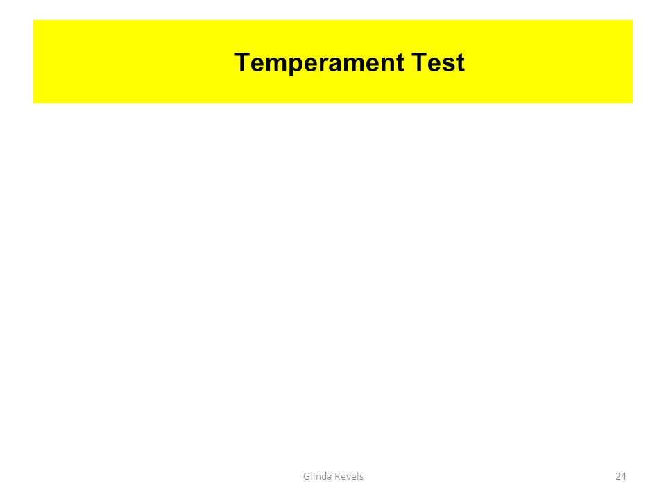 Temperament Test Glinda Revels24