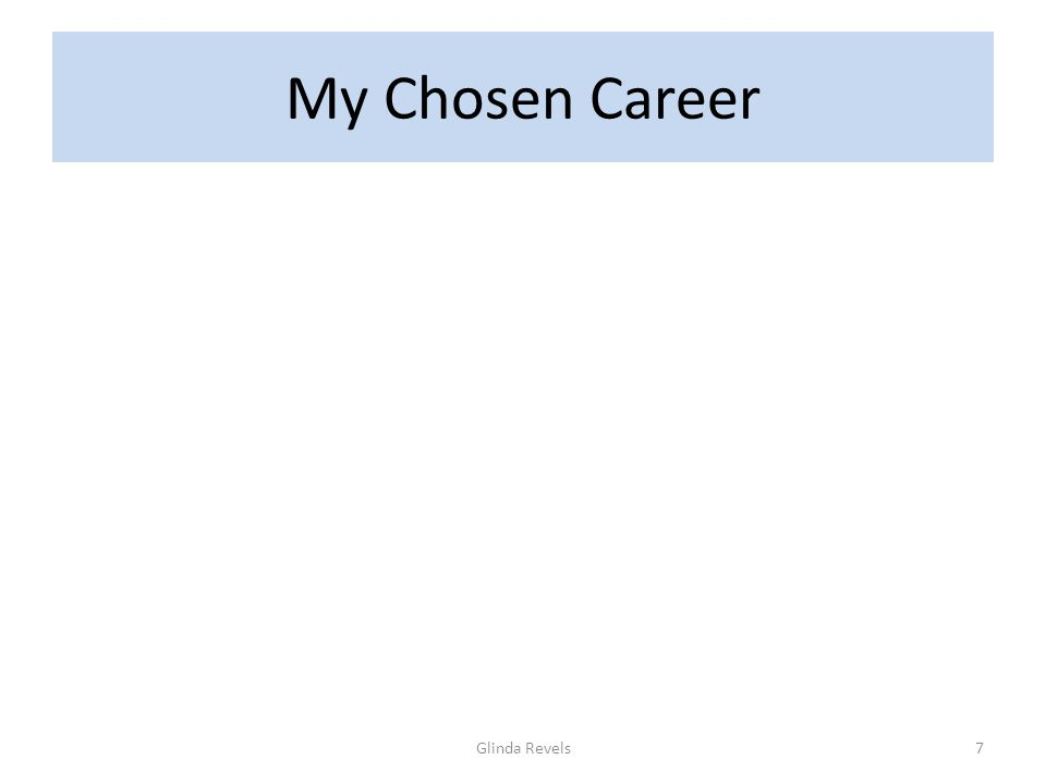 My Chosen Career Glinda Revels7