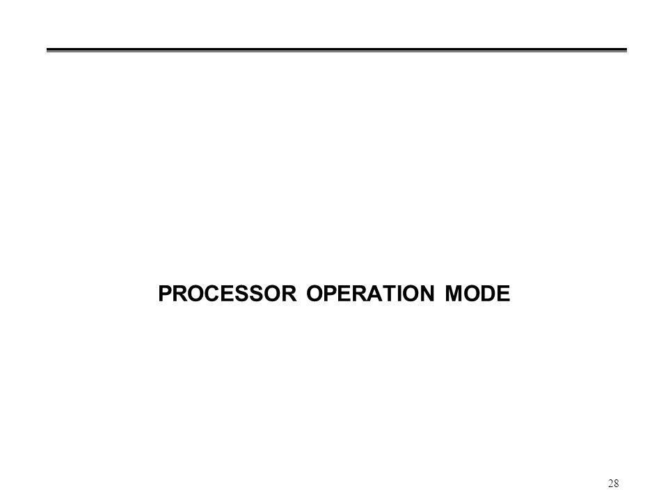 28 PROCESSOR OPERATION MODE