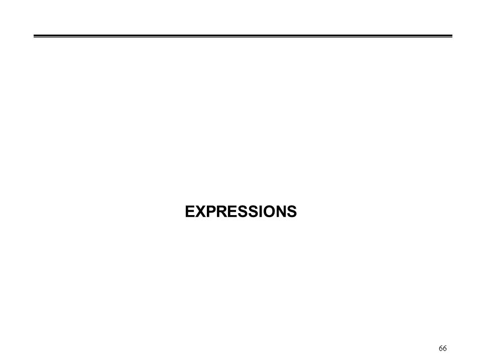 66 EXPRESSIONS