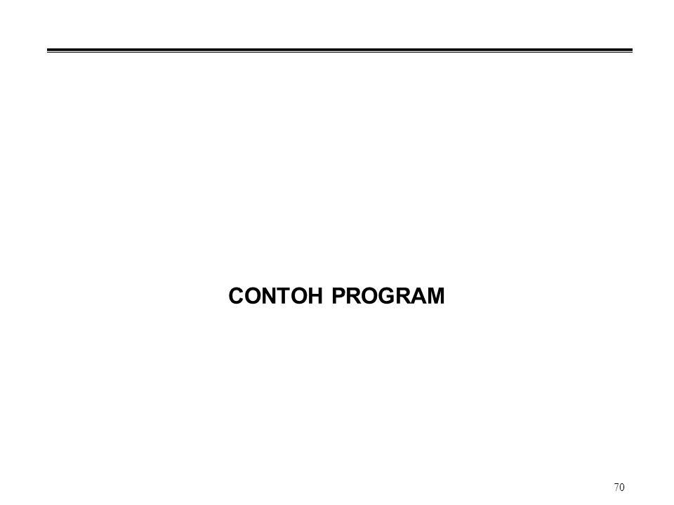 70 CONTOH PROGRAM