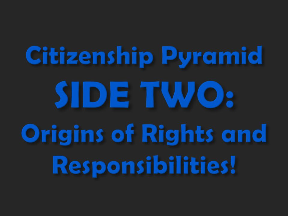 Where do these rights and responsibilities come from? Let's find out!
