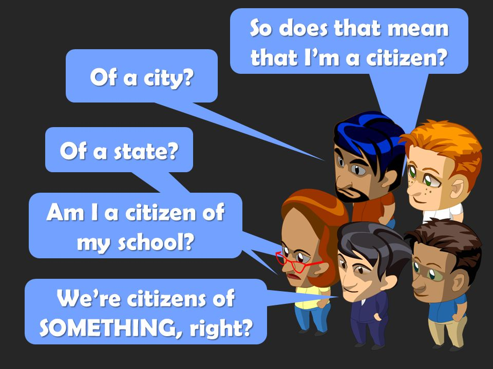A citizen is… A. a person who does good deeds. THANKS! C. a member of a community with rights and responsibilities. B. someone involved in politics. D