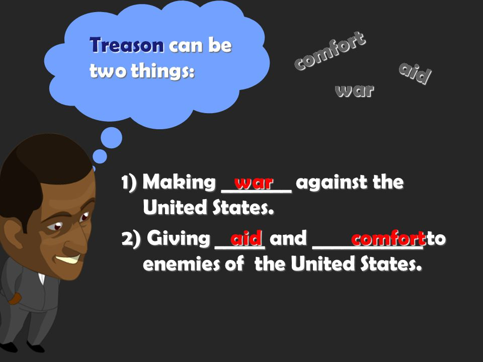 From this, you can figure out that citizens of the United States have a responsibility not to commit what? TREASON