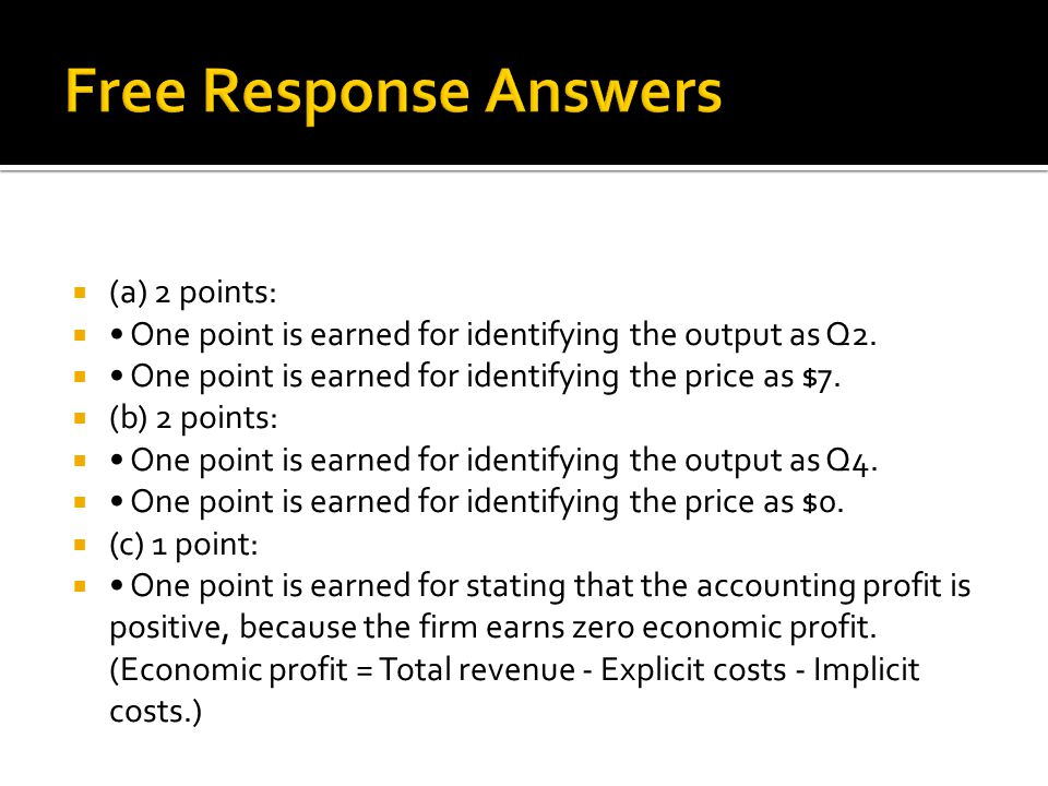  (a) 2 points:  One point is earned for identifying the output as Q2.