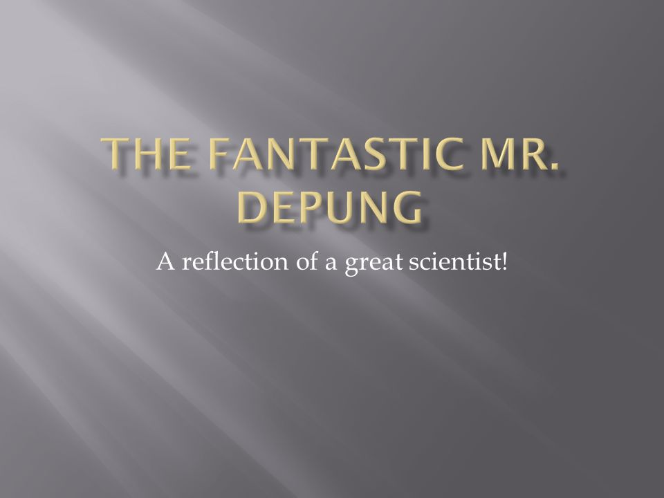 A reflection of a great scientist!