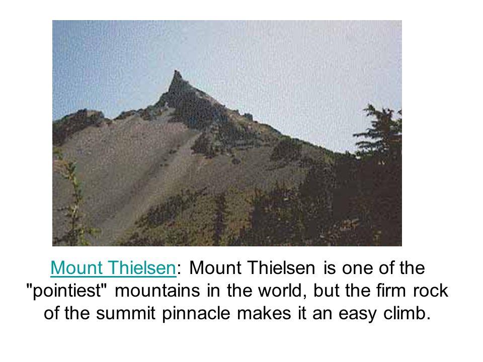 What mountains make up the Cascade Range Mount Thielsen Mount Stuart Mount Lassen Mount Shasta Mount Rainier Mount St.
