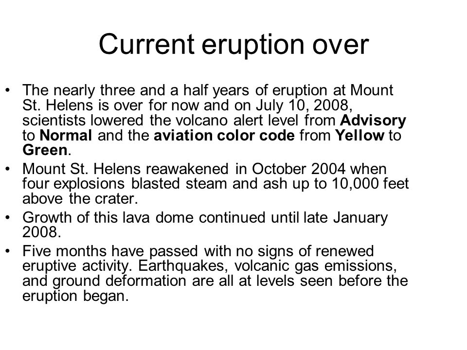 25 years after the eruption
