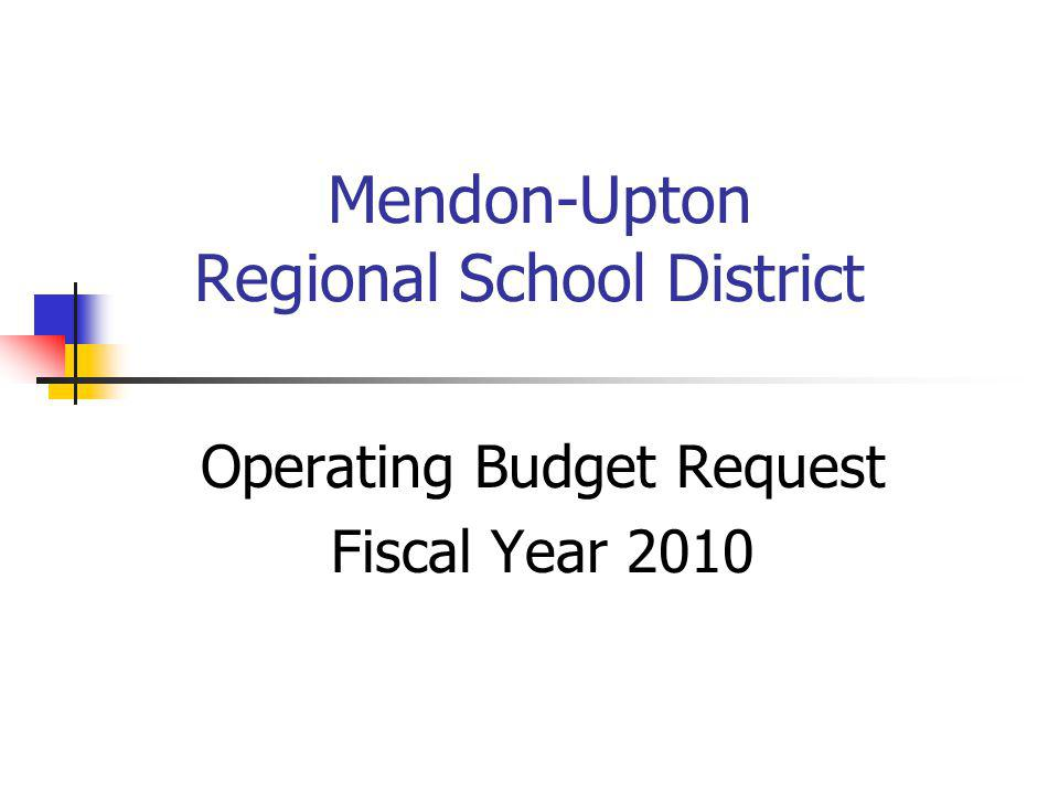 March 16, 2009 Mendon Upton Regional School District2 Agenda Educational Funding Overview & Implications 2010 Budget Summary Cost Drivers Funding Sources Proposed Reductions District Comparisons Cost Control Measures Reduced Budget Impact Next Steps / Summary / Q & A