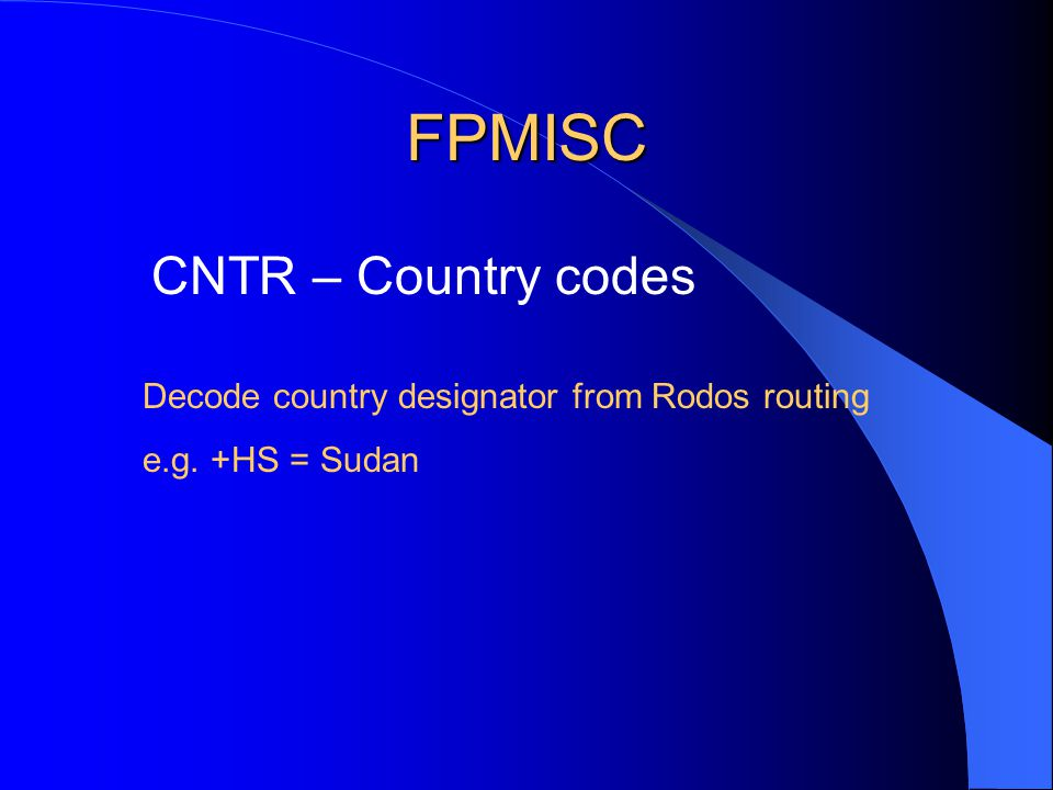 FPMISC QGRP – Notam Q codes SAS uses two groups: A: Airports F: FIRs CPHOP have their own group: 5A Does SAS check Q code for PX type notams.