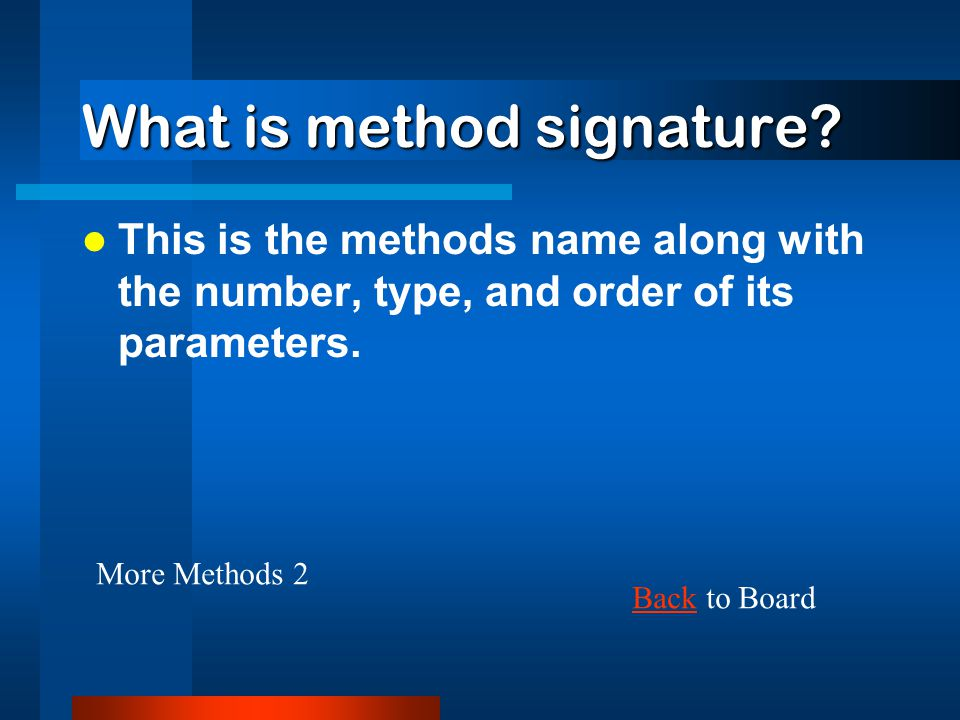 What are formal parameters. These parameters are located in the header of the method declaration.