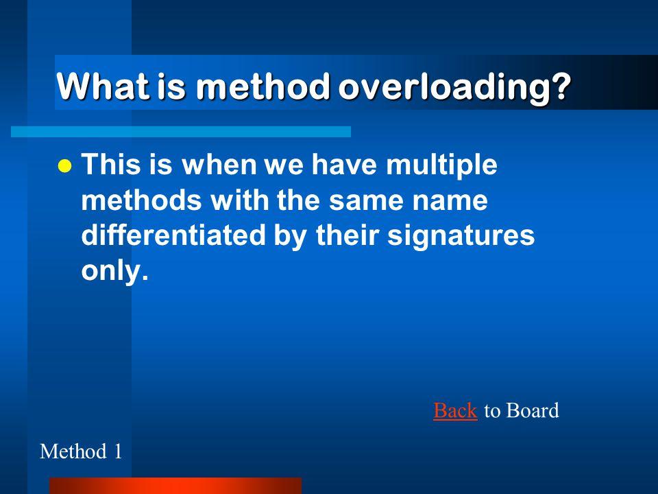 What is method overloading.