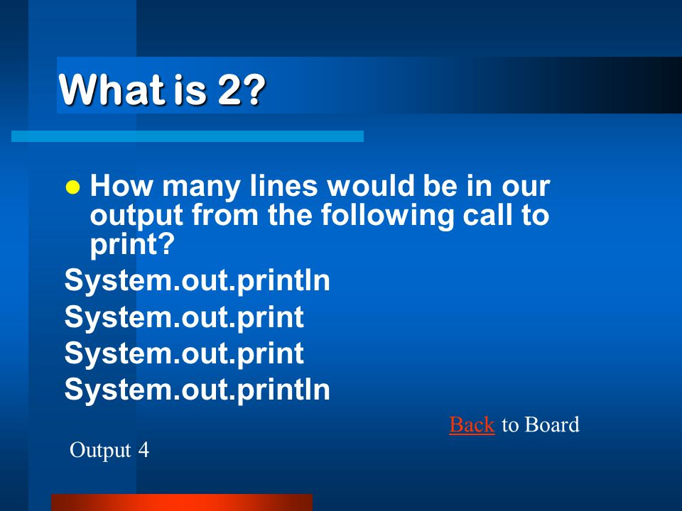 What is after the string is printed.