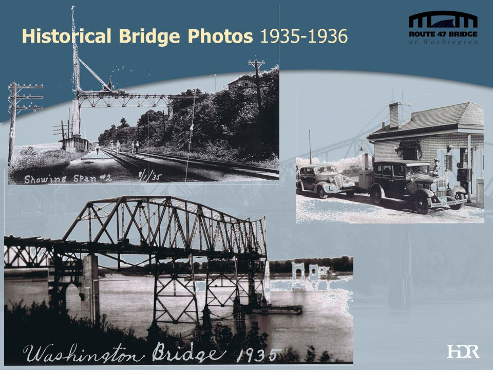 Historical Bridge Photos 1935-1936