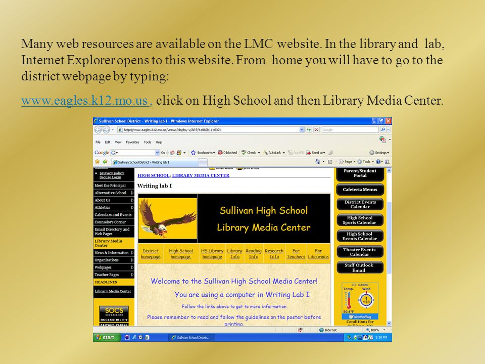 Many web resources are available on the LMC website.