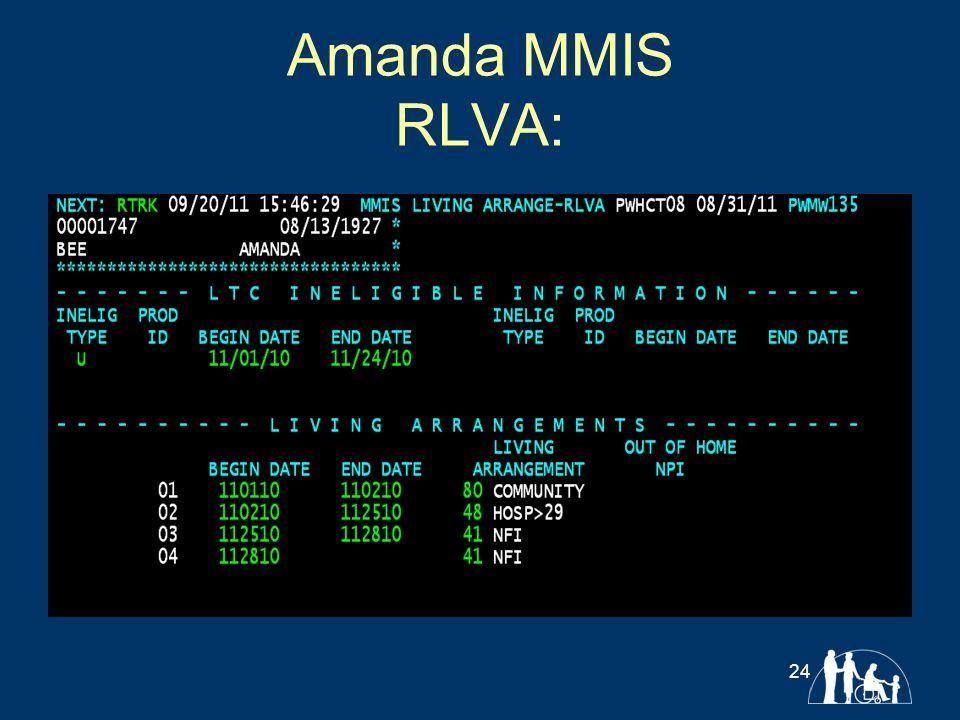 Amanda MMIS RLVA: 24