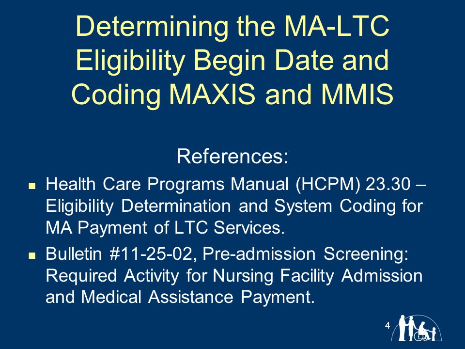 Section Objectives: Determining the MA-LTC begin date.