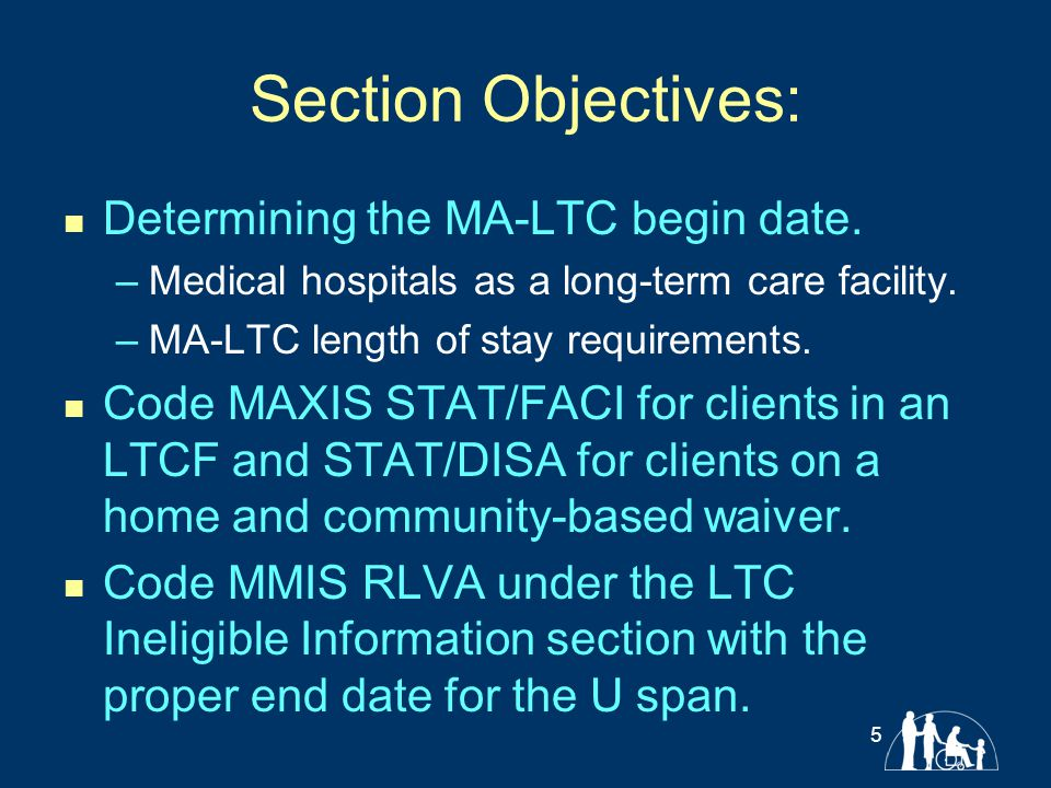 MA Payment of LTC Services Applicants and Enrollees are not eligible for payment until: The agency receives a request for MA- LTC.
