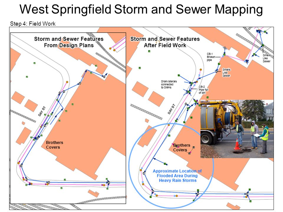 Step 4: Field Work West Springfield Storm and Sewer Mapping