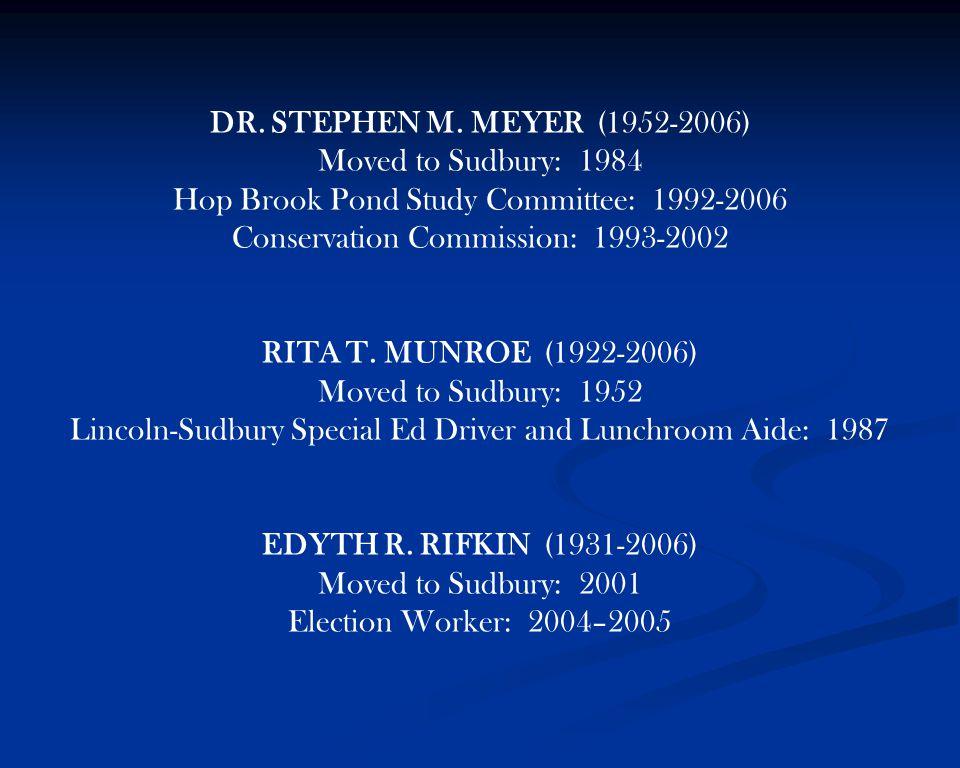 DR. STEPHEN M.