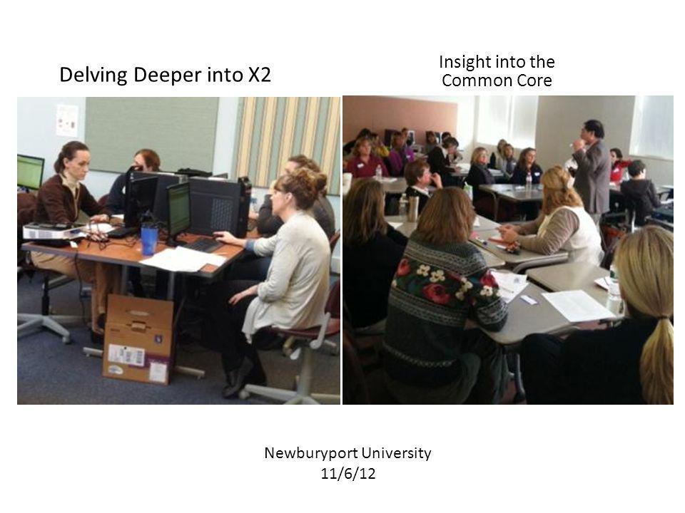 Delving Deeper into X2 Insight into the Common Core Newburyport University 11/6/12