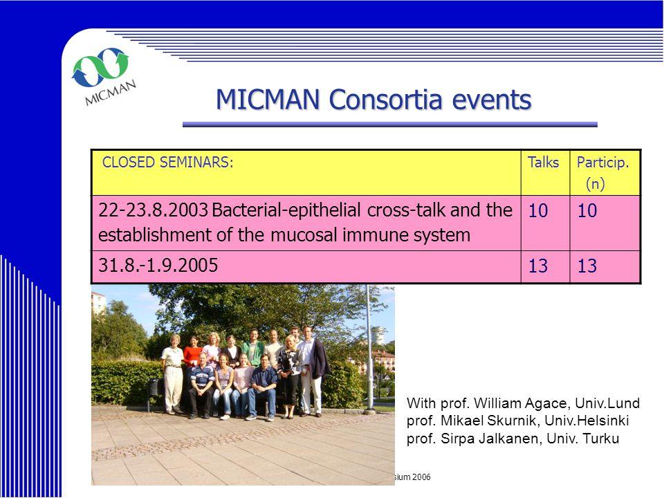MICMAN Final Symposium 2006 CLOSED SEMINARS:TalksParticip.