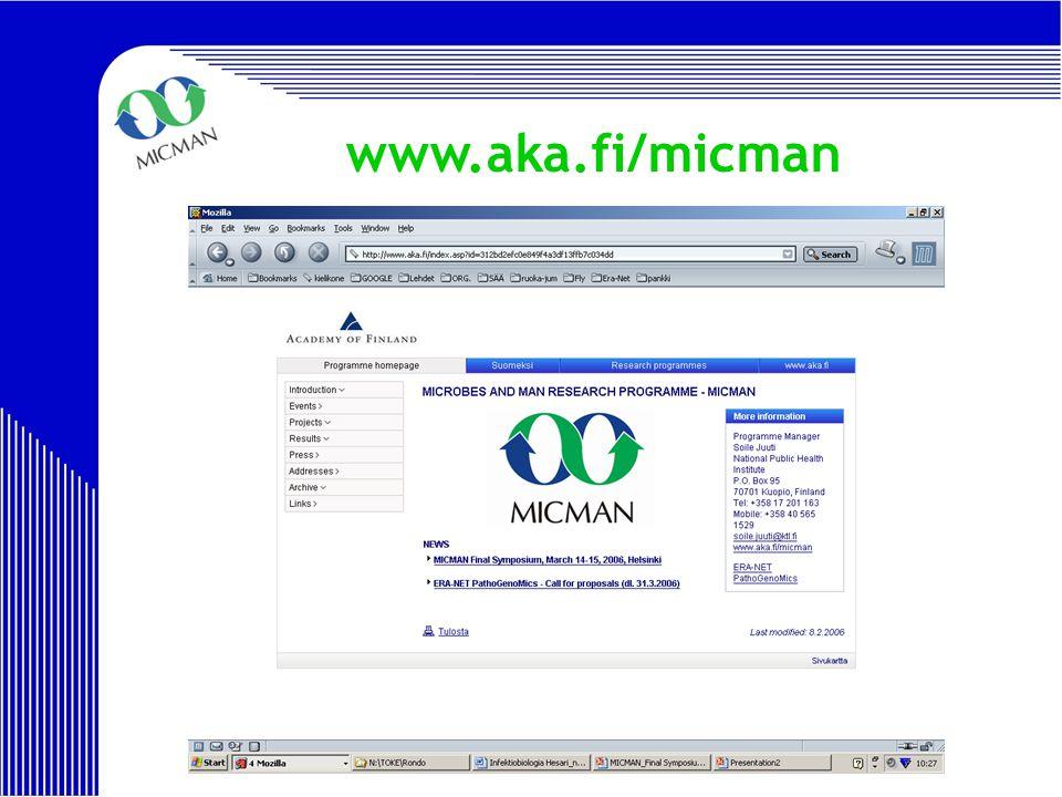 MICMAN Final Symposium 2006 www.aka.fi/micman