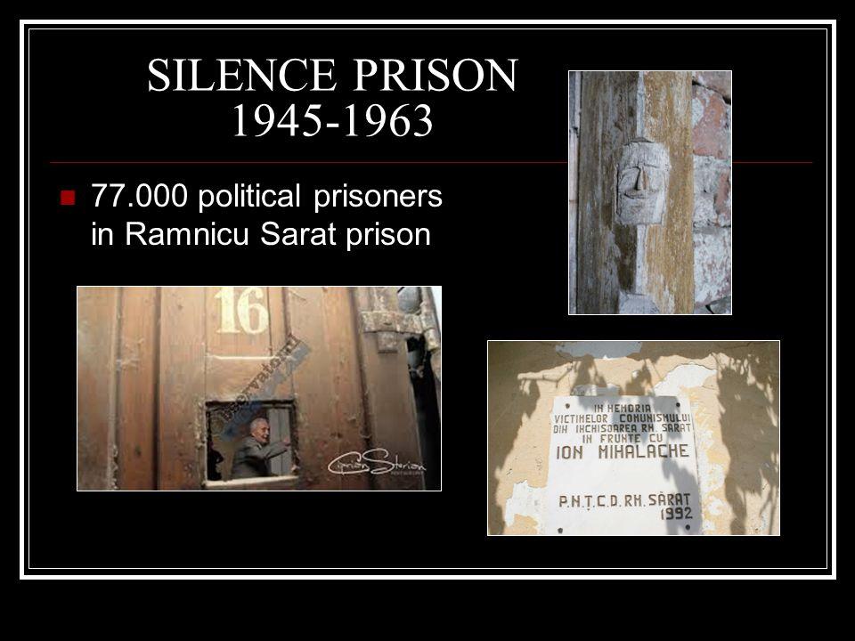 SILENCE PRISON 1945-1963 77.000 political prisoners in Ramnicu Sarat prison