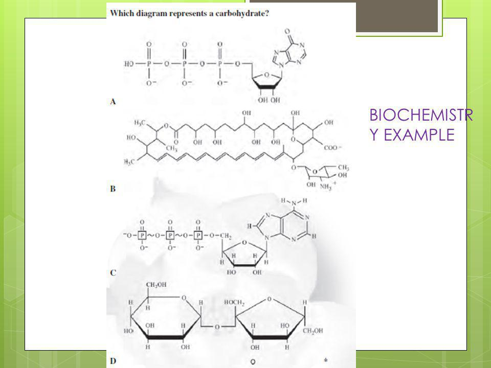 BIOCHEMISTR Y EXAMPLE