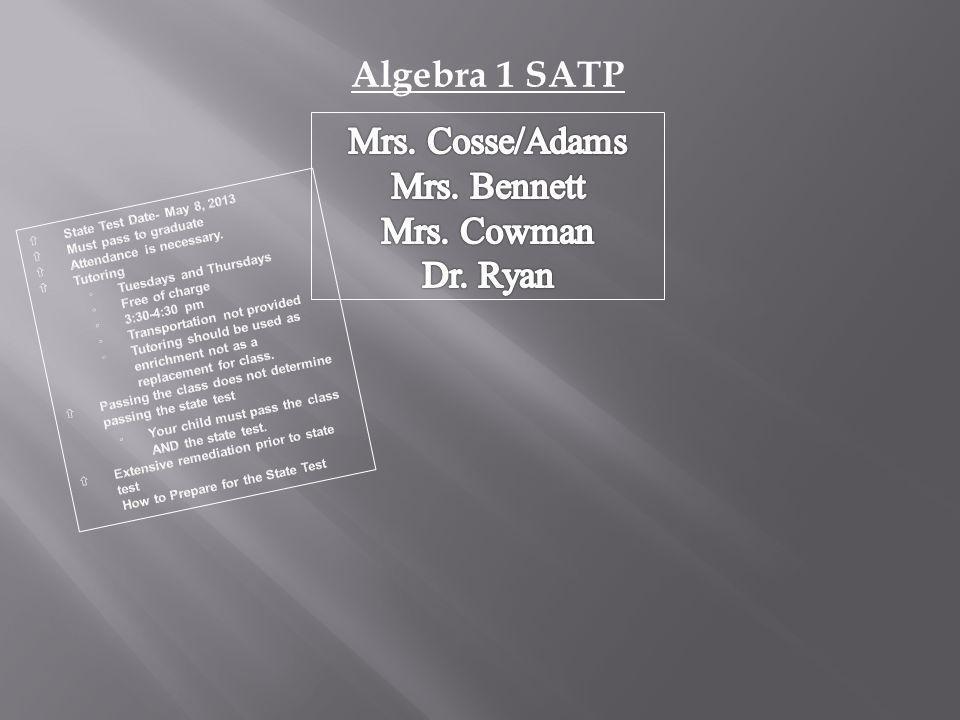 Algebra 1 SATP