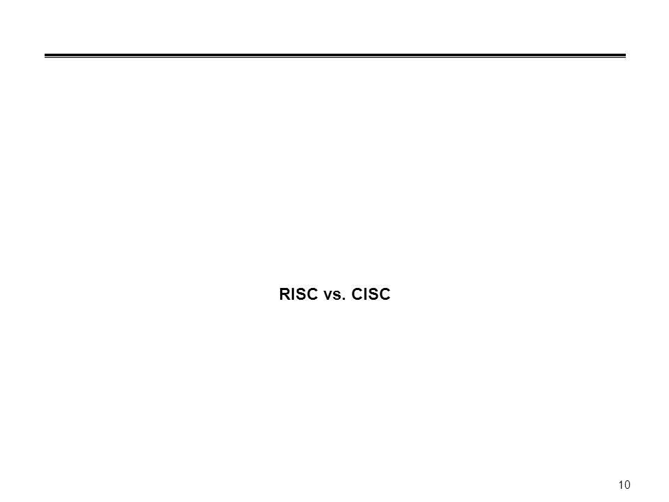 10 RISC vs. CISC