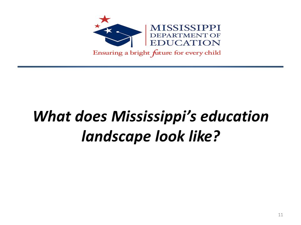 11 What does Mississippi's education landscape look like?