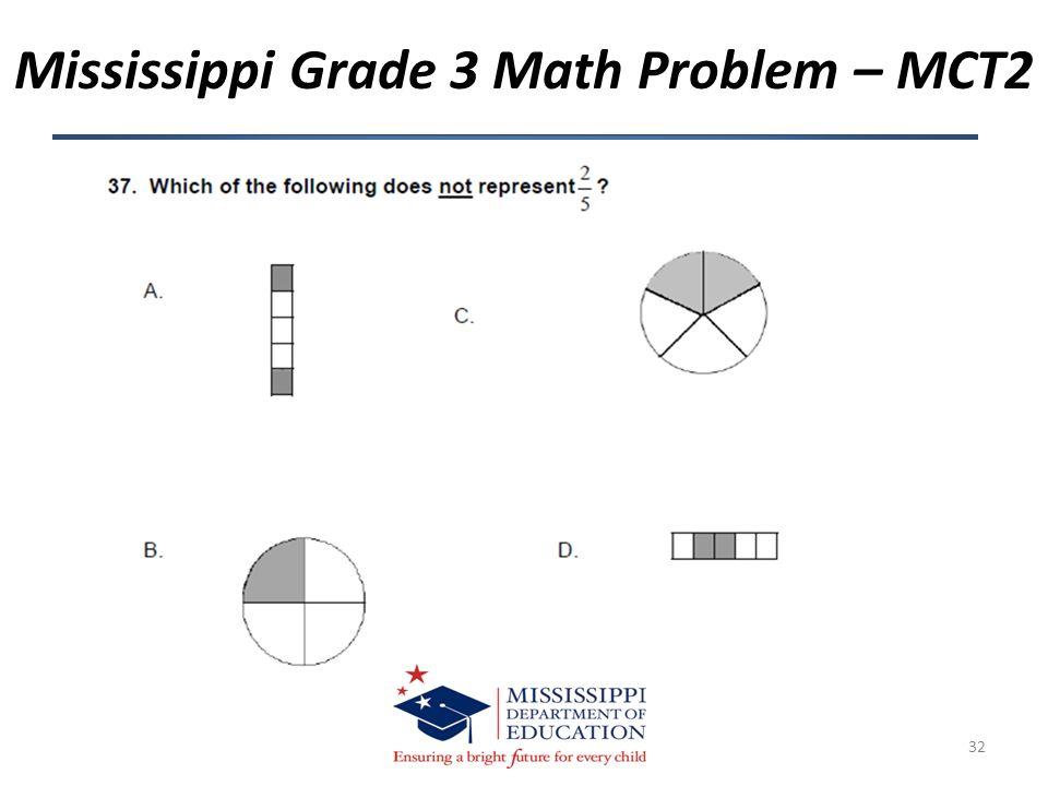 Mississippi Grade 3 Math Problem – MCT2 32