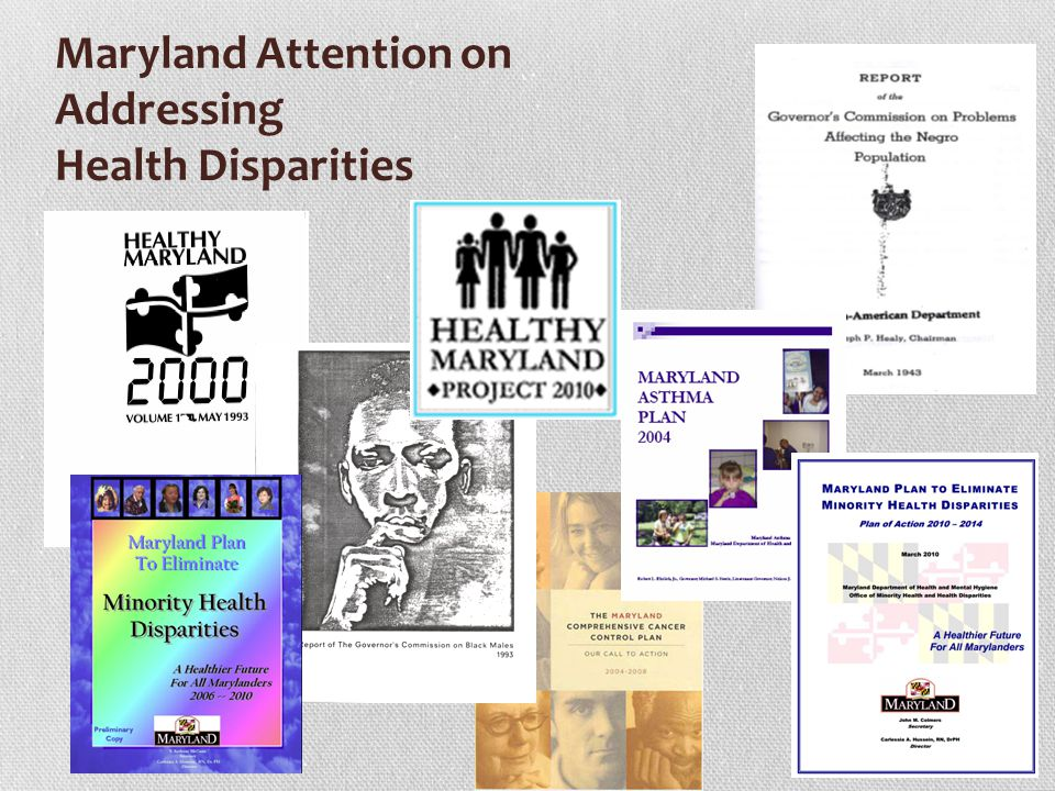 17 The Maryland Health Improvement and Disparities Reduction Act (Continued) 4.