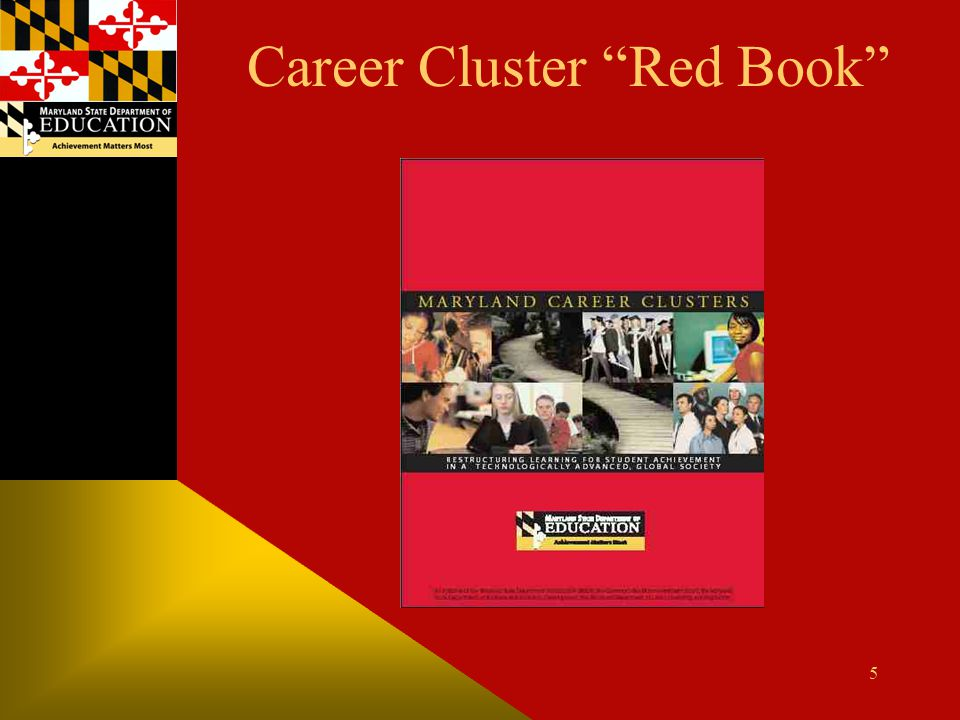 """Career Cluster """"Red Book"""" 5"""